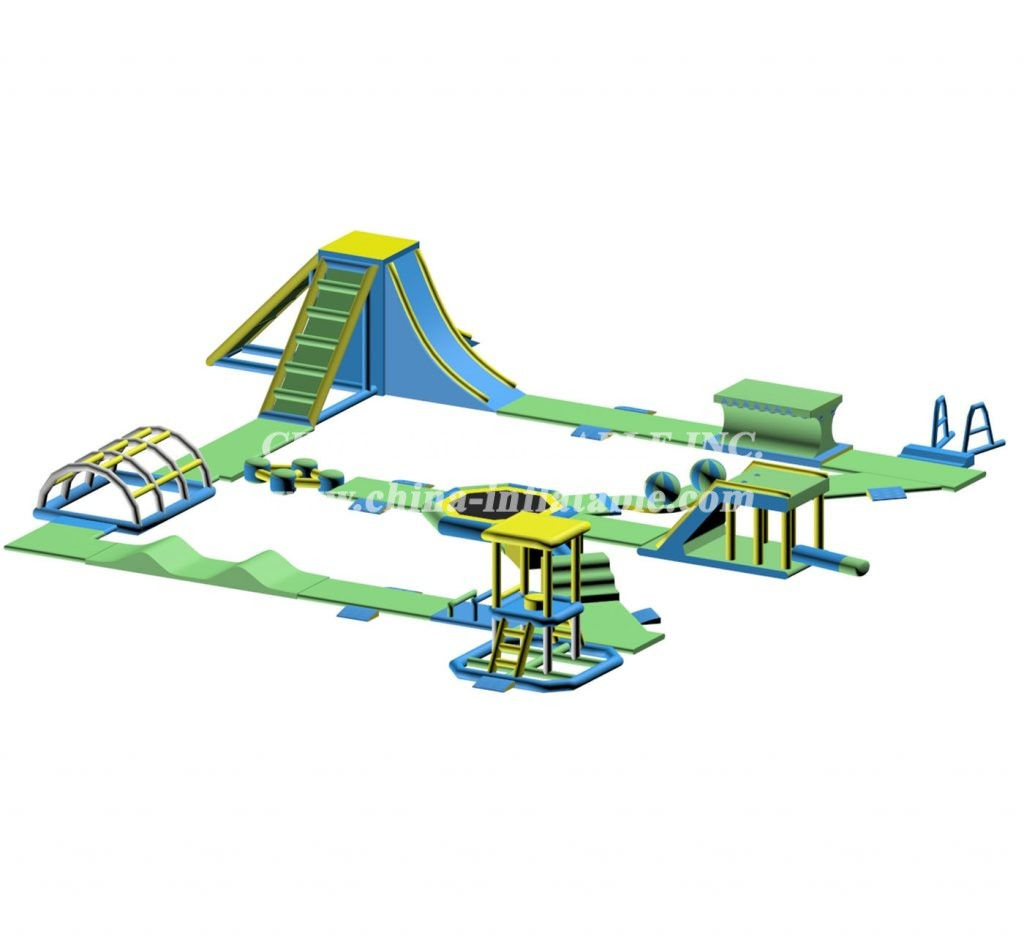 S55 Inflatable water park Aqua park Water Island from Chinee inflatables