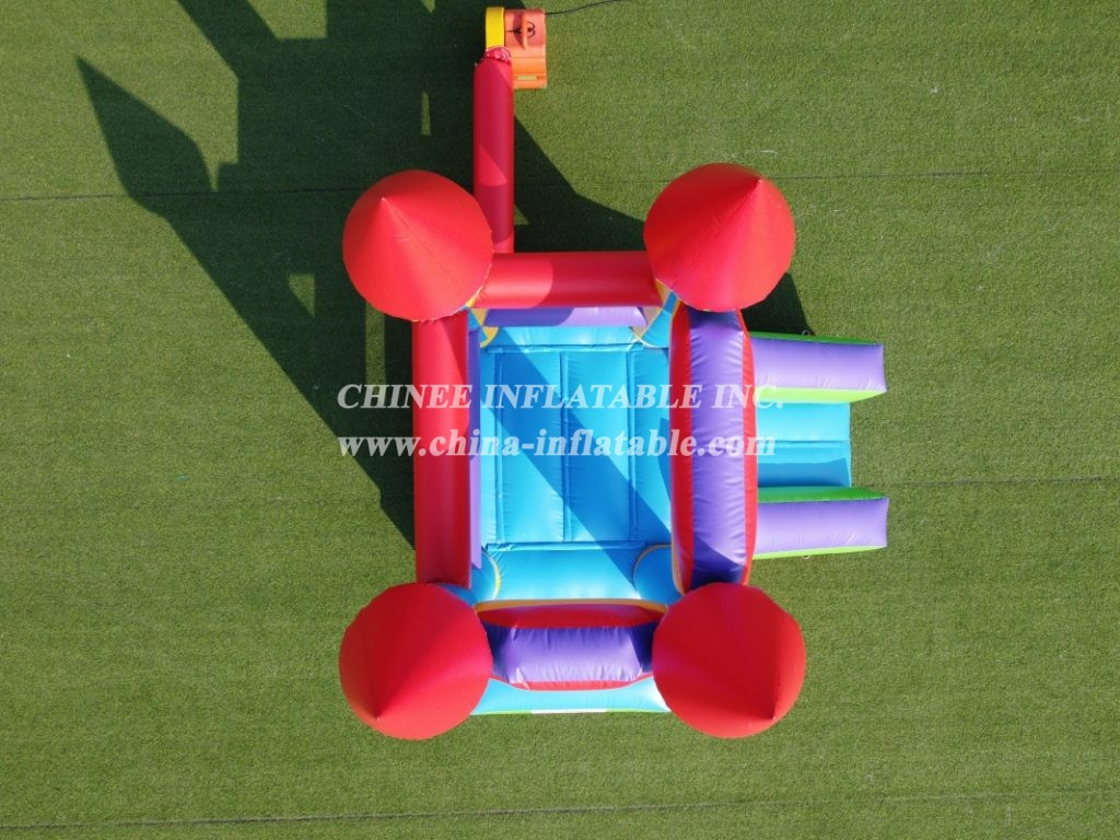 T2-3502 Small bouncy castle jumper with slide inflatable bouncer