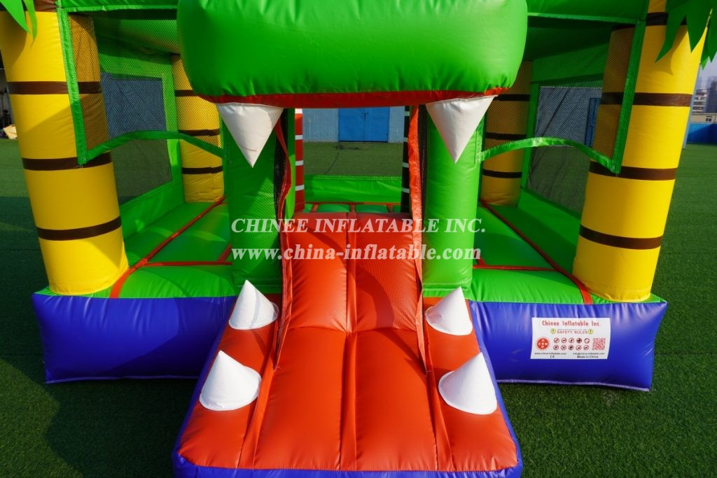 T2-3503 Kids Inflatable Bouncer Combo crocodile alligator theme combo