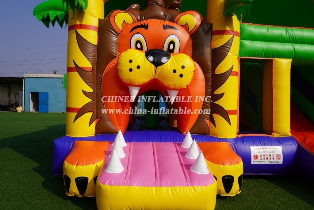 T2-3480B bouncy house jumping inflatable lion theme kids combo