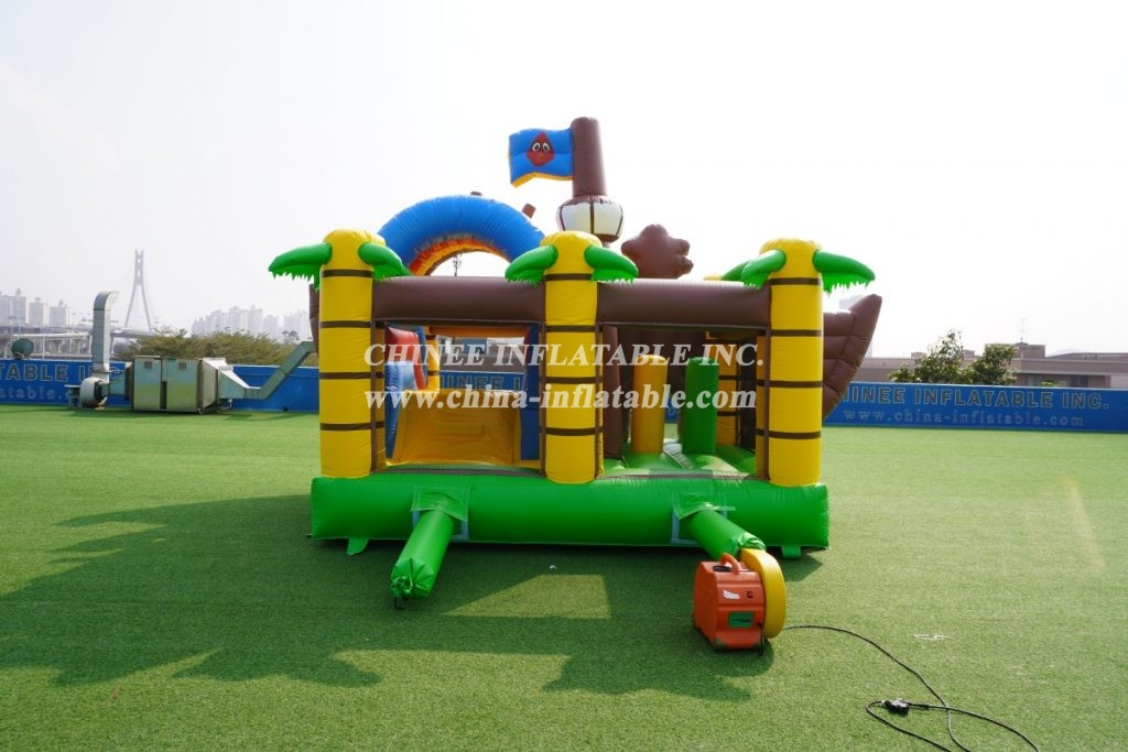 T2-3504  New Design Commercial Inflatable Bouncer Combo pirate theme