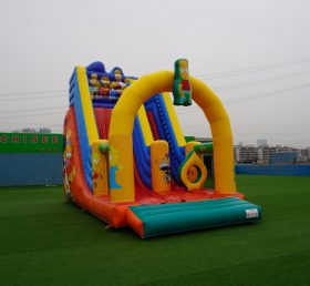 T8-3801  Inflatable Dry Slides