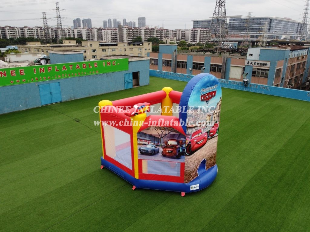 T2-3016 Cars Theme Inflatable Bounce House Jumping Combos For Kids