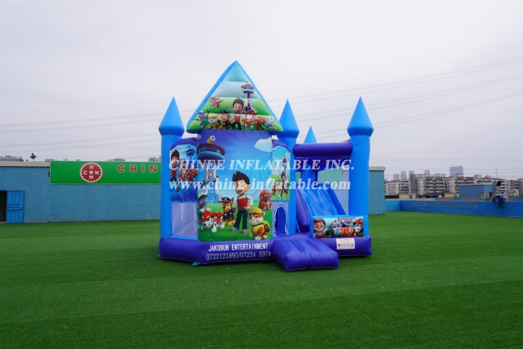 T5-1000B Inflatable bouncer Paw Patrol combo bouncy castle with slide