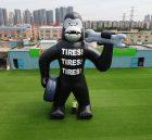CARTOON2-115 Custom giant 30feet high inflatable gorilla King Kong