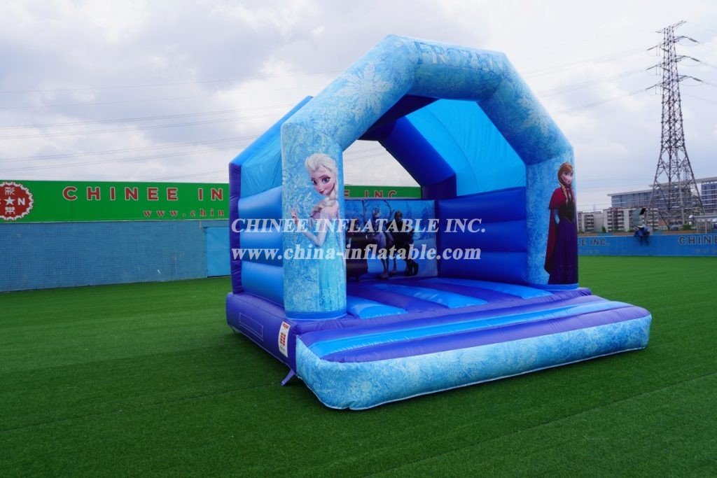 T2-3488B Disney Frozen bouncy house commercial castle jumper