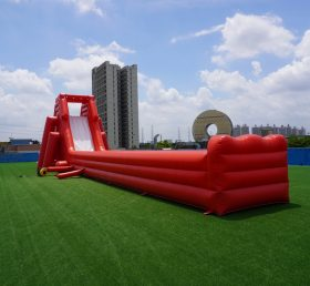 GS1-010 Inflatable giant water slide with the long slideway
