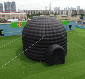 tent1-415B Giant outdoor black inflatable dome tent portable tent with entr