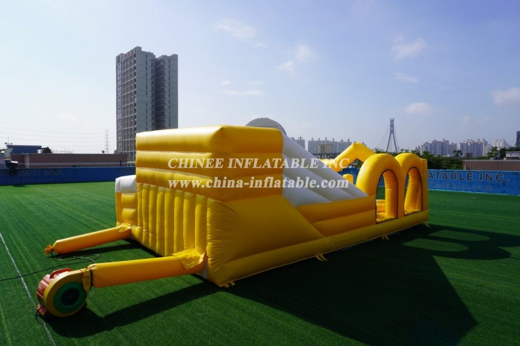 T7-1249 Inflatable obstacle course bounce jumping house crown gate for kids