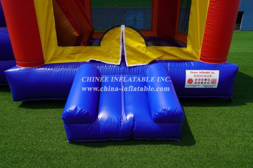 T2-3343B  Bounce house combo with slide wet slide with pool