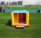 T2-3507 Colorful inflatable bouncy house with slides bouncy castles With roof