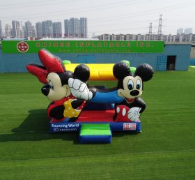 T2-3355B Disney Mickey and Minnie bounce house with slide jumping castle