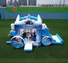 T5-002B Inflatable Frozen carriage combo Elsa castle jumping house with slide  Disney kids party