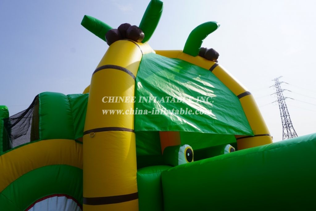 T8-3810 Crocodile themed combo with slide jungle inflatable water slide