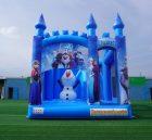 T5-1002A Frozen bouncy castle combo slide outdoor kids jumping castle