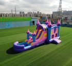 T8-3344 Bouncy castle combo double lane water slide outdoor party event jumping castle for kids