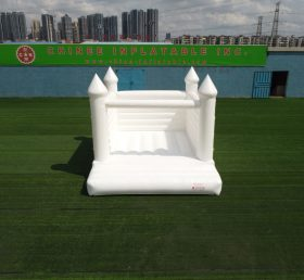 T2-3508 Pure White inflatable bouncy castle