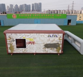 Tent1-804 Removable inflatable structure military training tent inflatable house with wall tent1-804
