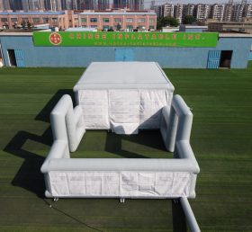 Tent1-805 Removable inflatable structure military training tent inflatable house with yard