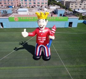 Cartoon2-380 Giant advertising inflatable cartoon King theme promotional character