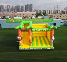 T5-694B Inflatable SAFARI PARK combo bounce house with slide